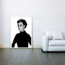 Audrey Hepburn, Prints & Posters, Wall Art Print, Poster Any Size - Black and White Poster